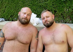IMG_7954 (danimaniacs) Tags: party shirtless man guy sexy hot bear beard scruff tattoo hunk hairy bald