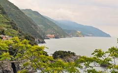 The view of Cinque Terre from Monterosso (Andrea Mazzotta) Tags: nikon d3x italy cinqueterre monterosso vernazza corniglia manarola riomaggiore hillside hilltown