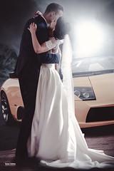 Newlyweds (salas-3) Tags: creative creation photography dress couple lambo lamborghini groom bride happy car beautiful wedding