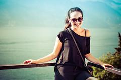 Love in the Malcedine castle (ondrafirla) Tags: girl woman glamur beauty brunet lake garda nikon smile castle people portreit portrait