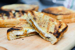 Grilled Cheese with Butternut Squash (joshbousel) Tags: butternutsquash cheese eat fontina food fruit grilledcheese grilledcheesewithbutternutsquash herb ricotta sage sandwich squash