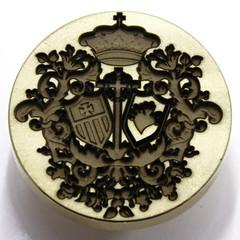Sello de lacre Herldico (www.omellagrabados.com) Tags: sello seal cachet segell lacre wax waxseal cire scellement gravures grabados gravat engraving letter lettre carta heraldic heraldique herladico escudo shield bouclier barroco baroque