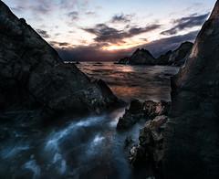Hamningberg sunrise (strupert) Tags: hdr clouds sunrise 1424mm d810 nikon ps cliff seascape finnmark norge norway nordishavet barentssea varangerhalvya varanger hamningberg