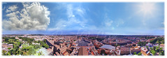 The whole Rome. (laluzdivinadetusojos) Tags: 360 panorama mercator rome whole city vatican san peter basilica dome cupula view landscape sky summer september
