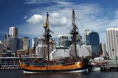 Endeavour 2 (H Burton) Tags: boats ships sydneymaritimemuseum endeavour captaincook tallships tallship sails sailboats sailingboat
