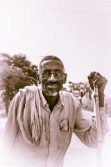 GRN_2849 (anantara) Tags: old india man yellow kids river boat town time prayer vrindavan yamuna templetilak sadhuvrindakundatulasikrishnagiriraj