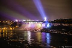 Niagara Falls at Night (3lsig) Tags: light night waterfall niagara falls andersen filip