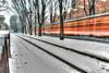 Panning Vs Hdr (fotopierino) Tags: italy milan canon italia mark milano iii tram neve di 5d vs panning atm lombardia arancio hdr binari binario mezzi trasporto fotopierino 5dm3