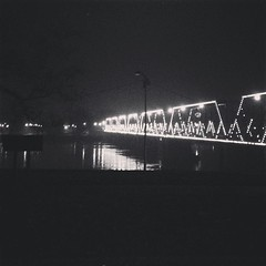 (wenzday01) Tags: bridge reflection river square lights phone pennsylvania cellphone pa willow walnutstreetbridge harrisburg susquehanna susquehannariver iphone iphone5 iphoneography instagram