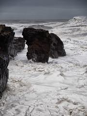 Storm, foam (MC159402 0S5-0) (Mel Stephens) Tags: 20121215 2012 aberdeen scotland uk coast coastal olympus omd em5 1260mm waves foam rock storm gps microfourthirds mirrorless hdr micro43 geotagged mmf3 december 201212 winter zuiko m43 43 fourthirds q4