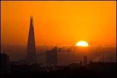 Second dawn (rc-soar) Tags: orange sun london skyscraper sunrise pentax shard renzopiano modernarchitecture k5 tallbuilding da55300