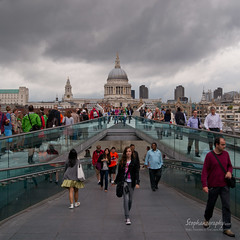 St. Paul's via Millennium Bridge (Stephanografie) Tags: bridge london st pauls millennium