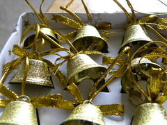 #28 (Bell(s) (Jacqi B) Tags: christmas bells gold christmasdecorations 28 christmasornaments 112picturesin2012 28bells 112201228