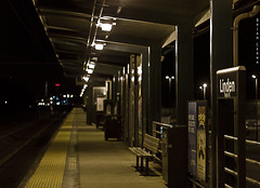 Linden Station (BrianCerna) Tags: beauty station night train canon 50mm time bokeh linden nj 18