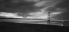 Humber Bridge....Explored (djshoo) Tags: longexposure england clouds blackwhite lowlight nikon dusk bridges lincolnshire humberbridge eveninglight kingstonuponhull wideanglelens d90 leefilters nikond90