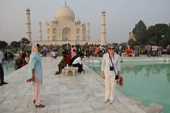 The Taj Mahal, I think Liz is being watched (thatmanwithacamera) Tags: india tajmahal agra