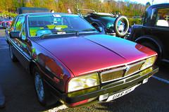 1983 LANCIA GAMMA COUPE FI (Yugo Lada) Tags: old red cars car photo gamma surrey retro parked fi 1983 rare coupe lancia brooklands 2013 uar51y