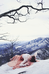 Mountain Sound (Danielle Pearce) Tags: new eve blue mountain snow me girl canon flow pretty mark year skirt ridge ii parkway 5d years elegant wintergreen