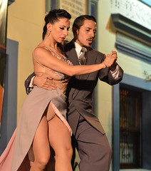 Tango Performance in Buenos Aires (tacosnachosburritos) Tags: street city people urban music woman man sexy guy art argentina argentine girl beautiful fashion architecture trash race america shopping walking grit photography graffiti thestreets pretty dancing market outdoor buenos aires amor south band handsome crotch gritty babe neighborhood tango dirt human passion heels vendor elegant carlosgardel elegance amalgo