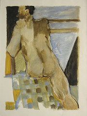 Figure with plaid (Karen L Darling) Tags: drawing mixedmedia karen study charcoal figure darling figurative karendarling