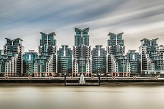 Five (Baggers 2013) Tags: longexposure winter england sky london water modern river concrete apartments five towers symmetry motionblur riverthames muddy silt ultramodern leefilters flickrchallengegroup flickrchallengewinner 10stopndfilter bwnd110 stgeorgwharf 06ndhardgrad averagedimagefromseveralshotstocreatethelongexposure 210sexposure