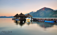 Kedisan Village Bali (Nora Carol) Tags: sunset bali lake indonesia scenic lakebatur kintamani floatingrestaurant mountbatur kedisanvillage tranquilscenery