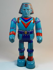 Billiken Shokai  Tin Wind Up  Giant Robo ()  Front (My Toy Museum) Tags: up giant tin wind robo billiken