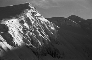 Mt.Maetokachi and Mt.Tokachi(back)