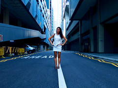 Standing Up! (OzGFK) Tags: portrait canon skinny model alley singapore asia legs powershot lane cbd grandfinal afl s100 shentonway