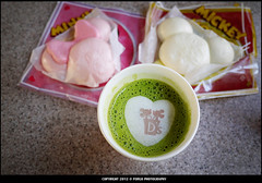 Mickey&Minnie Manju+Matcha Latte (Forgo23) Tags: trip travel winter food hot japan photography tokyo drink disney mickey japanesefood minnie latte matcha gettyimages tokyodisneyland manju foodie gettyimagesjapanq4