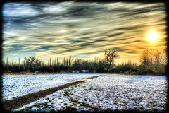 Sunset over Braintree (Suggsy69) Tags: sunset snow landscape nikon hdr highdynamicrange lightroom photomatix d5100