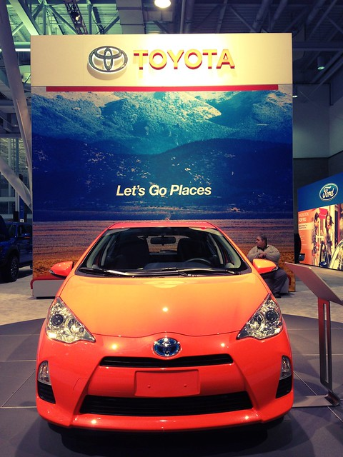 Lets Go Places Toyota Prius. Color: Habanero! #autoshow
