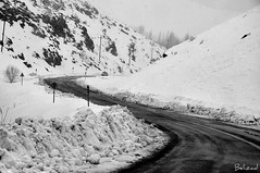 Snowy road (Behzad No) Tags: road snow cold alone iran snowy sepidan nikond90 behzadno