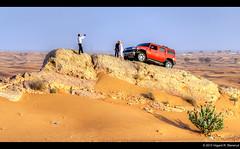 Out in the desert (vegarste) Tags: landscape sand nikon dubai desert jeep dunes united uae middleeast tourists safari emirates arab driver guide randompeople hummer hdr d800 photomatix tonemapping 5xp 5exp