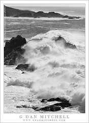 Winter Surf, Big Sur Coast (G Dan Mitchell) Tags: ocean california county travel winter usa white seascape storm black nature water monochrome america landscape island one coast monterey big highway surf break pacific north scenic rocky wave shore huge sur peninsula rugged