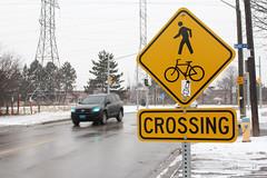 Designated  Wojo Crossing (Canadian Pacific) Tags: road toronto ontario canada sign crossing canadian northyork wojo talbotroad blakeavenue aimg0018 forcyclist