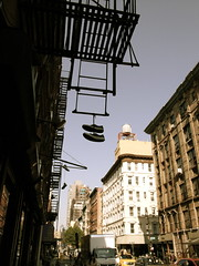I Just Want My Shoes Back (leicaboysyd) Tags: newyork shoes digilux2 manhattan lowereastside watertower