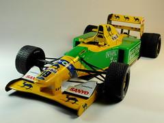 Pauls Model Art  Minichamps  1/18 Benetton Ford B192  Belgian GP Winner 1992 Michael Schumacher  With Rain Tyres  Front (My Toy Museum) Tags: art one michael model pauls f1 formula schumacher gp benetton minichamps