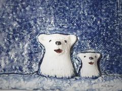 with  a baby bear (danahaneunjeong) Tags: bear animal ceramic doll polarbear polar icebear