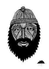 Wavebeard Wally (Mulga The Artist) Tags: illustration ink painting beard fisherman waves drawing sailor beanie joelmoore hipsterart mulga oldseadog hipsterbeard mulgatheartist wavebeard