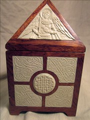 Carved Reliquary - side view (jonathanpageau) Tags: sculpture irish art michael miniature pattern ivory casket icon knot carving medieval christian romanesque orthodox reliquary insular zoomorphic steatite deisis
