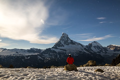 Solitude au Cervin (Arafinw) Tags: longexposure night canon landscape switzerland solitude loneliness nightshot suisse zermatt matterhorn paysage cervin nightimage swisslandscape