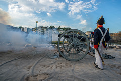 Smoking gun....... (Dafydd Penguin) Tags: napoleonic cannon reenactment fire firing smoke soldier artillery bristol ss great britain floating harbour harbor port city centre museum party launch nikon d600 nikkor 20mm af f28d