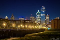 Dallas Skyline and Bridge (Evan Gearing (Evan's Expo)) Tags: dallas places texas type cityscape night nightime skyline trinityoverlook tx unitedstates us