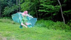 IMG_1648e (ScarletPeaches) Tags: donnav fairy green pinkhair outdoors isiswings pixie