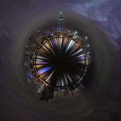 Planet Toronto for HSS (superdavebrem77) Tags: abstract colours toronto panorama night cityscape water sliderssunday