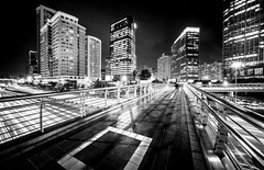speed of light (Rob-Shanghai) Tags: shanghai china cityscape bridge overpass mono leica m240 cv12mm wide light