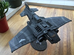 Forge World Thunderbolt Fighter (jonas_415) Tags: space jet aircraft 28mm weathering modelling flier apocalypse 40k 40000 warhammer imperialnavy thunderbolt forgeworld