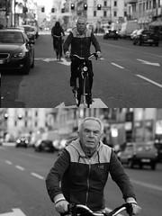 [La Mia Citt][Pedala] (Urca) Tags: milano italia 2016 bicicletta pedalare ciclista ritrattostradale portrait dittico bike bicycle biancoenero blackandwhite bn bw 872121 nikondigitale mir