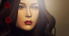 Client Work (Netau) Tags: roses poem secondlife sl portret face hair moon genesislab lips eyes light shadow photography